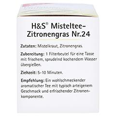 H&S Misteltee Mischung mit Zitronengras Filterbtl. 20x2.0 Gramm - Linke Seite