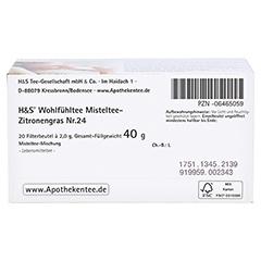 H&S Misteltee Mischung mit Zitronengras Filterbtl. 20x2.0 Gramm - Unterseite