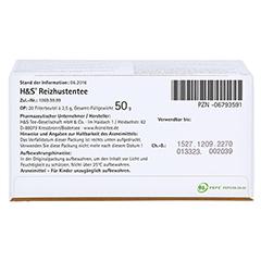 H&S Reizhustentee Filterbeutel 20x2.5 Gramm - Unterseite