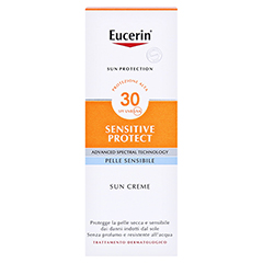 EUCERIN Sun Creme LSF 30 50 Milliliter - Rückseite