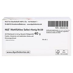 H&S Wohlfühltee Salbei Honig mit Zitrone Fbtl. 20x2.0 Gramm - Unterseite