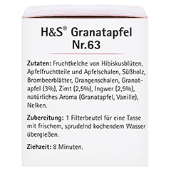 H&S Granatapfel Filterbeutel 20x2.0 Gramm - Linke Seite