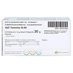 H&S Wohlfühltee Fastentee Filterbeutel 20x1.5 Gramm - Unterseite