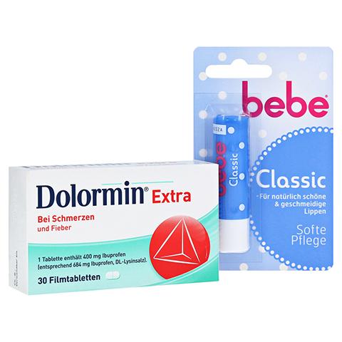 Dolormin extra + gratis bebe Lipstick classic 30 Stück N2
