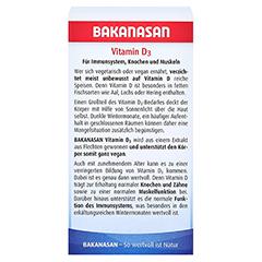 BAKANASAN Vitamin D3 Tabletten 60 Stück - Rückseite
