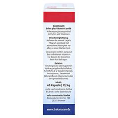 BAKANASAN Selen plus Vitamin A und E Kapseln 60 Stück - Rechte Seite