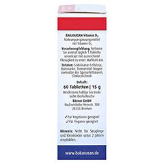 BAKANASAN Vitamin D3 Tabletten 60 Stück - Rechte Seite