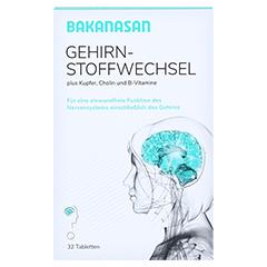 BAKANASAN Gehirnstoffwechsel Tabletten 32 Stück - Vorderseite