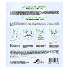 DR.SCHELLER Argan&Amaranth Anti-Falten Tuchmaske 16 Milliliter - Rückseite