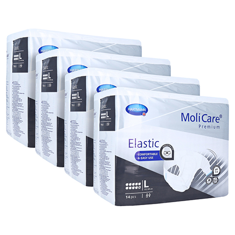 MOLICARE Premium Elastic Slip 10 Tropfen Gr.L 4x14 Stück