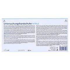 KOLIBRI Premium U.Hands.Nitril unst.pf L blau 100 Stück - Rückseite