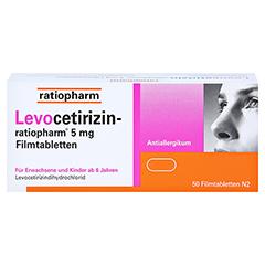 Levocetirizin-ratiopharm 5mg 50 Stück N2 - Vorderseite