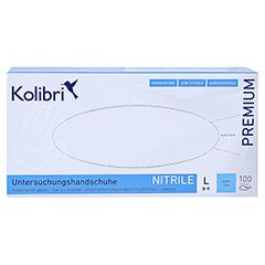 KOLIBRI Premium U.Hands.Nitril unst.pf L blau 100 Stück - Vorderseite