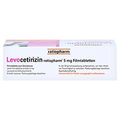 Levocetirizin-ratiopharm 5mg 50 Stück N2 - Unterseite