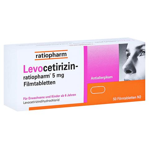 Levocetirizin-ratiopharm 5mg 50 Stück N2
