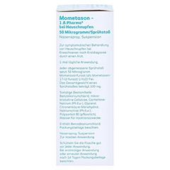 Mometason-1A Pharma bei Heuschnupfen 50µg/Sprühstoß 10 Gramm - Rechte Seite