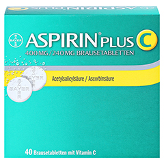 Aspirin plus C 40 Stück - Vorderseite