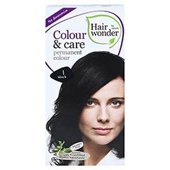 HAIRWONDER Colour & care black Creme 100 Milliliter - Vorderseite