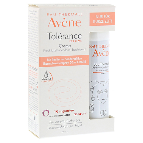 AVENE Tolerance Extreme Creme+Th.Spray 50ml Gratis 1 Packung