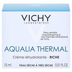 VICHY AQUALIA Thermal reichhaltige Creme/R 15 Milliliter - Rückseite