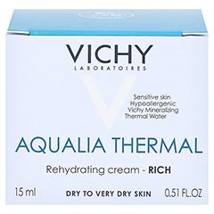 VICHY AQUALIA Thermal reichhaltige Creme/R 15 Milliliter - Vorderseite