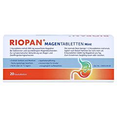 Riopan Magen Tabletten Mint 20 Stück N1 - Rückseite