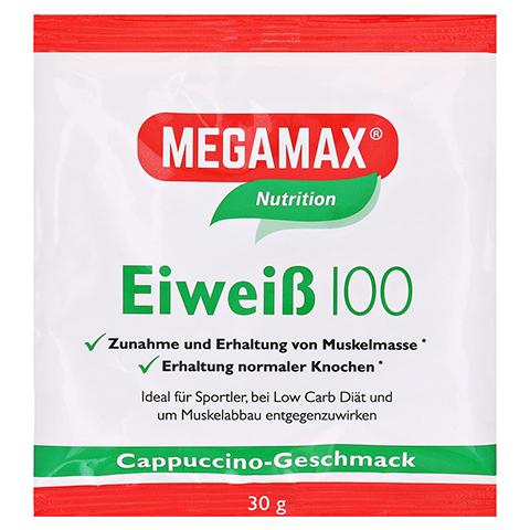 Eiweiss 100 Cappuccino Megamax Pulver 30 Gramm