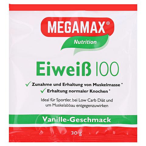 EIWEISS 100 Vanille Megamax Pulver 30 Gramm