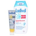 LADIVAL Aktiv Sonnenschutz Gesicht&Lippen LSF 50+ + gratis Ladival Empfindliche Haut Apres Lotion 200 ml 1 Packung