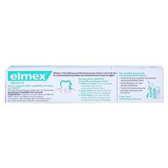 ELMEX SENSITIVE Zahnpasta 75 Milliliter - Rückseite