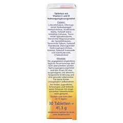 DOPPELHERZ Vitamin C 1000+Vitamin D Depot aktiv 30 Stück - Rechte Seite