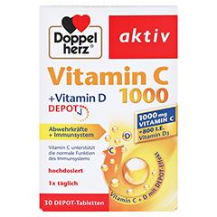 DOPPELHERZ Vitamin C 1000+Vitamin D Depot aktiv 30 Stück - Vorderseite