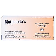 Biotin beta 5 90 Stück - Unterseite