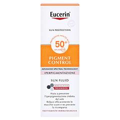 Eucerin Sun Fluid Pigment Control LSF 50 50 Milliliter - Rückseite