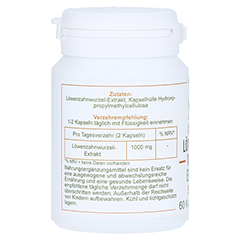 LÖWENZAHNWURZEL-Extrakt 500 mg Mono Kapseln 60 Stück - Rechte Seite