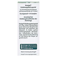 Kneipp Erkältungsbad spezial 20 Milliliter - Rückseite
