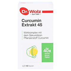Dr. Wolz Curcumin Extrakt 45 Kapseln 90 Stück - Vorderseite