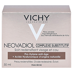 VICHY NEOVADIOL Creme trockene Haut + gratis Vichy Mineral 89 Mini 50 Milliliter - Rückseite