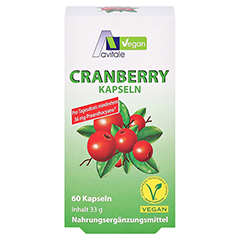 Avitale Cranberry Vegan 60 Stück - Vorderseite