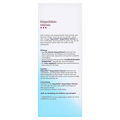 Bepanthol Intensiv Körperlotion Spenderflasche 400 Milliliter - Rückseite