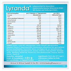 Lyranda Kautabletten 28 Stück - Rückseite