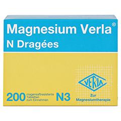 Magnesium Verla N Dragees 200 Stück N3 - Vorderseite