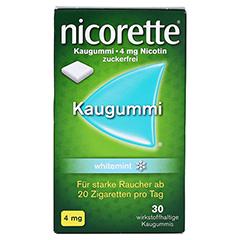 Nicorette 4mg whitemint 30 Stück - Vorderseite