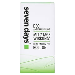Seven DAYS Das Antitranspirant Roll-on 50 Milliliter - Vorderseite