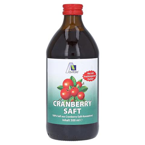 CRANBERRY SAFT 100% Frucht 500 Milliliter