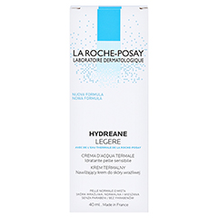 La Roche-Posay Hydreane Legere Leichte Gesichtspflege 40 Milliliter - Rückseite