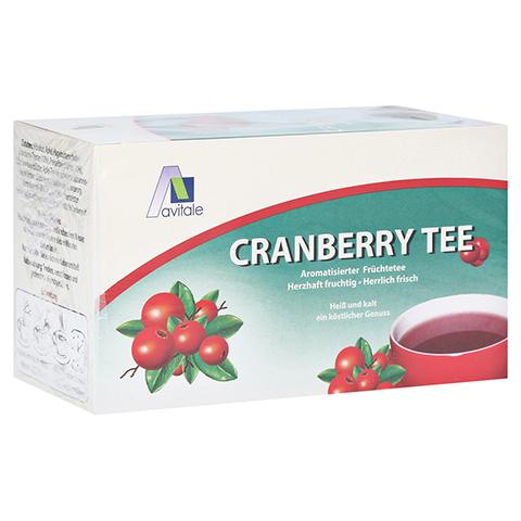 Avitale Cranberry Tee Filterbeutel 20 Stück