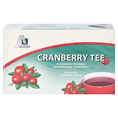 Avitale Cranberry Tee Filterbeutel 20 Stück - Vorderseite