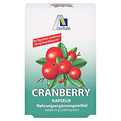 Avitale Cranberry 100 Stück - Vorderseite