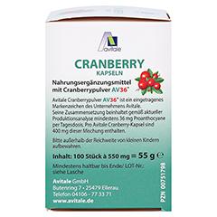 Avitale Cranberry 100 Stück - Rechte Seite